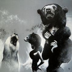 + Ilustração :     O trabalho intenso em preto e branco de Sit.