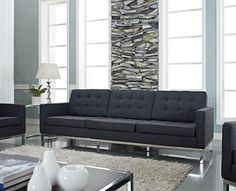 Awesome Dark Gray Sofa With Florence Style Dark Gray Wool Loft Sofa Midcentury Sofas