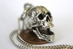 3D Laughing Skull Necklace. $30,00, via Etsy.