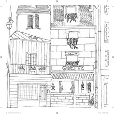 Secret Paris Color Your Way To Calm Zoe De Las Case Find This Pin And More On Architecture Coloring
