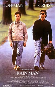 Directed by Barry Levinson. With Dustin Hoffman, Tom Cruise, Valeria Golino, Gerald R. Selfish yuppie Charlie Babbitt's father left a fortune to his savant brother Raymond and a pittance to Charlie; they travel cross-country. Dustin Hoffman, Best Movies To See, Good Movies, Greatest Movies, Tom Cruise, 80s Movies, Movie Tv, Movie Trivia, Funny Movies