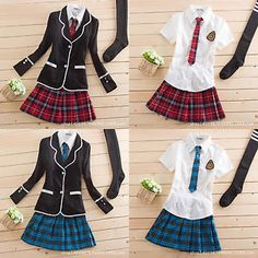 NEW Japanese School Girl Cute Sailor Uniform Dress Full Set Cosplay Costume Japanese School Girl Cute Sailor Uniform Dress Full Set Cosplay Costume Source by Gummibeean. School Girl Outfit, School Uniform Girls, Girls Uniforms, School Outfits, Outfits For Teens, School Uniforms, Anime Uniform, Uniform Dress, Mode Outfits