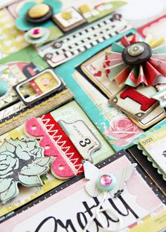 lovely collage of scrap booking material