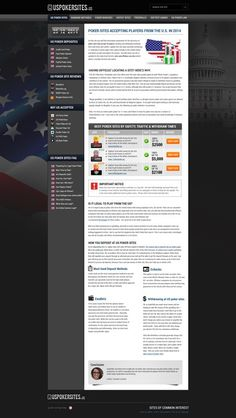 New Design For My U.S. Poker Information Guide, USpokersites.us. by Rajdip mitra
