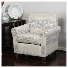 Brunswick Patterned Fabric Club Chair - Christopher Knight Home : Target