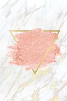 Download premium vector of Pastel pink paint with a gold triangle frame on a white marble background vector by Tang about background, texture, frame, marble, and pink 592348
