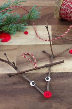 Twig Reindeer Ornaments Just in time for Christmas, learn how to make a DIY wooden popsicle stick sled ornament with craft sticks, glue, and paint. This simple holiday craft for kids is perfect for home or school! Christmas Decorations For Kids, Christmas Crafts For Kids To Make, Preschool Christmas, Christmas Activities, Holiday Crafts, Indoor Activities, Summer Activities, Family Activities, Kids Winter Crafts