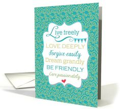 College Graduation Inspirational Message Congratulations card - Pretty peacock blue, good encouragement and advice! #greetingcarduniverse #graduation #inspirationalquote