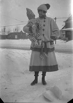Emma Ray in Winter Carnival outfit, 1917