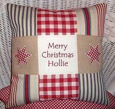 Make Christmas pillows for my girls