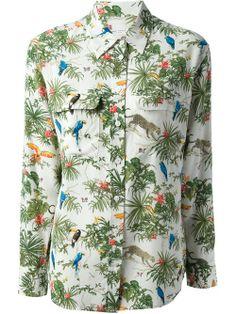 Women - Tops - Equipment 'Signature' Jungle-Print Shirt - Bernard Boutique