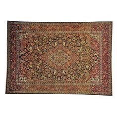 cool Antique Persian Kashan Good Cond Navy Hand Knotted 8'x12' Oriental Rug Sh16577 Check more at http://yorugs.com/product/antique-persian-kashan-good-cond-navy-hand-knotted-8x12-oriental-rug-sh16577/