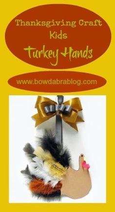 Last Minute Thanksgiving Craft Ideas | How to make Kids' Hand Turkey with Feathers