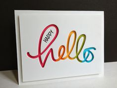 love the rainbow behind the die cut
