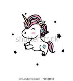 colorful drawing with unicorns with black stars on a white background Unicorns, Black Paper Drawing, Unicorn Drawing, Doodle 2, Colorful Drawings, Black Star, Cute Wallpapers, Snoopy, Minimalist Tattoos