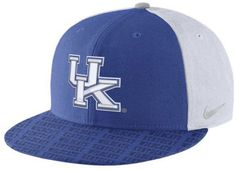 Keep your head in the game with this Nike NCAA Week Zero Trainer snapback cap. This classic cap is fashioned with a sleek Kentucky Wildcats logo that catches the light. High crown Structured fit Normal bill Raised embroidered team logo at front Stitched Nike swoosh logo at left side Flat embroidered team graphic at back Adjustable snapback closure at back Cotton Hand wash