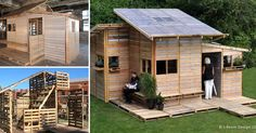 Feel encouraged to build an upcycled Pallet House!