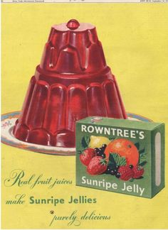 Our jelly moulds were made of very thick,heavy glass before plastic came to our rescue.