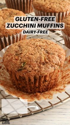 Gluten Free Recipes For Breakfast, Gluten Free Sweets, Gluten Free Breakfasts, Gluten Free Cooking, Dairy Free Recipes, Baking Recipes, Foods With Gluten, Sans Gluten, Gluten Free Zucchini Muffins