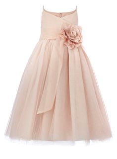 Blush wedding junior bridesmaid