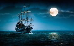 pirate-ship-sea-moon-night.jpg (1920×1200)