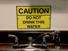 'Caution Do not drink this water' sign #lichtworkssprinting #sign #metalsign #graphicdesign #Atlantamade