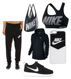 """""""im liking sets later. if you want me to like yours comment"""" by peigestyles ❤ liked on Polyvore featuring NIKE"""