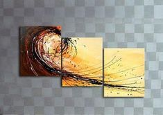 Simple Abstract Art, Big Wave Painting, Canvas Painting, Abstract Art for Sale Simple Oil Painting, Large Painting, Oil Painting Abstract, Hand Painting Art, Painting Canvas, Tree Of Life Painting, 3 Piece Canvas Art, 3 Piece Wall Art, Multiple Canvas Paintings