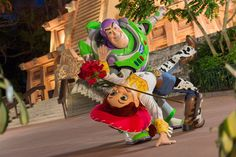 Buzz and Jessie dancing in Mexico Pavilion, Epcot