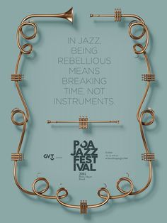 Print advertisement created by Dez Brasil, Brazil for Poa Jazz Festival, within the category: Recreation, Leisure. Graphic Design Posters, Graphic Design Typography, Graphic Design Inspiration, Branding Design, Poster Designs, Jazz Poster, Poster Ads, Typography Poster, Jazz Festival