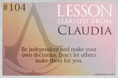 Assassin's Creed Life Lessons from Claudia