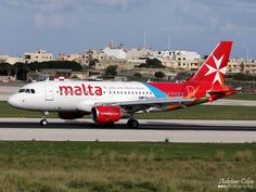 Air Malta resplendent in new livery --- Airbus A319 --- 9H-AEH by Drinu C, via Flickr