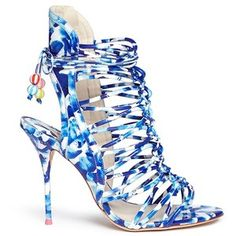 Sophia Webster 'Lacey Oceana' print leather caged sandals