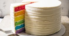 How to Make Rainbow Layer Cake | The Perfect Cake
