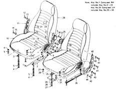 Datsun 240Z Seat & Slide (Type 1 Adjuster Seat) (To Jul.-'73)