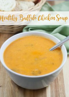 Healthy Buffalo Chicken Soup recipe - this can be modified for Paleo, Whole30, and is super tasty! Great for leftovers too and the perfect way to warm up this winter!