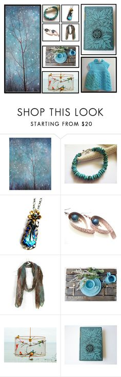 """""""The Skies Are Turquoise"""" by jarmgirl ❤ liked on Polyvore featuring Rustico and vintage"""