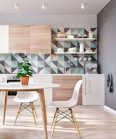 Ciekawa ściana w kuchni