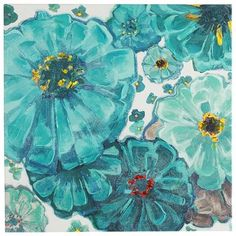 Teal Blooms Art | Pi