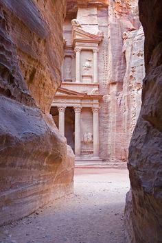 The Siq Canyon and The Treasury at Petra, Jordan - Lonely Planet The Beautiful Country, Beautiful World, Beautiful Places, Great Places, Places To See, Places Around The World, Around The Worlds, City Of Petra, Jordan Travel