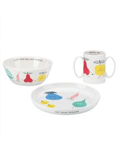 kate spade feeding set // mind your peas and cues