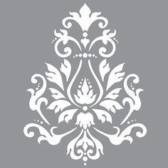 Brocade Motif sjabloon.Dit sjabloon is geweldig om te gebruiken op de deur van een kast, bovenblad van een kast, of dienblad. Een mooi decoratief sjabloon. Ook leuk te gebruiken als border of ter decoratie van uw vloertegels.