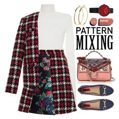 """""""~Head-to-Toe Pattern Mixing~"""" by amethyst0818 ❤ liked on Polyvore featuring Fendi, MSGM, London Rebel, Pieces and Chanel"""