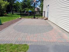 Need a Basketball field - use pavers to create it.