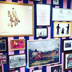 @laviedethree    Oh #Washington, you are really showing off today!! ☀️Sunny and 75☀️ makes for a p-e-r-f-e-c-t day to stroll around #Georgetown and browse the beautiful shops.  How amazing is this gallery wall in the @jackwills store?!?! You can never go wrong with pink stripes and horses...pretty much a girl's dream come true!!  #sunnyand75 #fall #laviedethree #livelovely