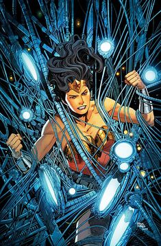 Godwatch grows, and Diana has her first encounter with the ghost in the machine…Dr. DC Comics' Wonder Woman by Greg Rucka & Bilquis Evely. Dc Comics, Star Comics, Cosmic Comics, Superman, Batman, Comic Book Covers, Comic Books, Greg Rucka, Dc Rebirth