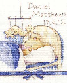 Birth Sampler Cross Stitch Kit - Huggies Bedtime - Bothy Threads