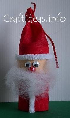 Toilet paper roll santa