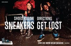 IMAGE: Converse celebrates urban fun with a nod to the nostalgia. Hand lettered headline suggests craftsmanship.