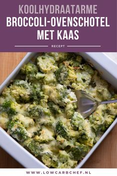 Broccoli-ovenschotel met kaas Today I share with you an easy and quick recipe for a broccoli oven dish with cheese. This broccoli dish is creamy, fresh and low in carbohydrates! Easy Smoothie Recipes, Easy Smoothies, Super Healthy Recipes, Quick Recipes, Healthy Snacks, Broccoli Dishes, Oven Broccoli, Oven Dishes, Coconut Recipes